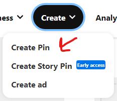 create a pin